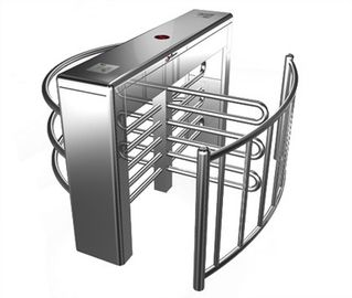 Stainless Steel Biometric Full Height Turnstile With LED Display For Apartment