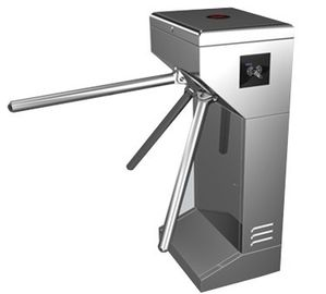 चीन Vertical Stainless Steel Tripod Turnstile Gate For Park or Airport फैक्टरी