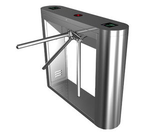 चीन Magnetic Card Stainless Steel Tripod Turnstile Gate for Supermarket फैक्टरी