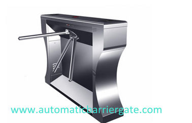 चीन Single / Dual Direction Remote Control Stainless Tripod Turnstile For Supermarket फैक्टरी