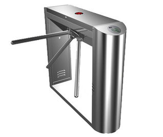 चीन 0.2s Dual Direction Barcode Stainless Steel Tripod Turnstile Gate for Museum, Library फैक्टरी