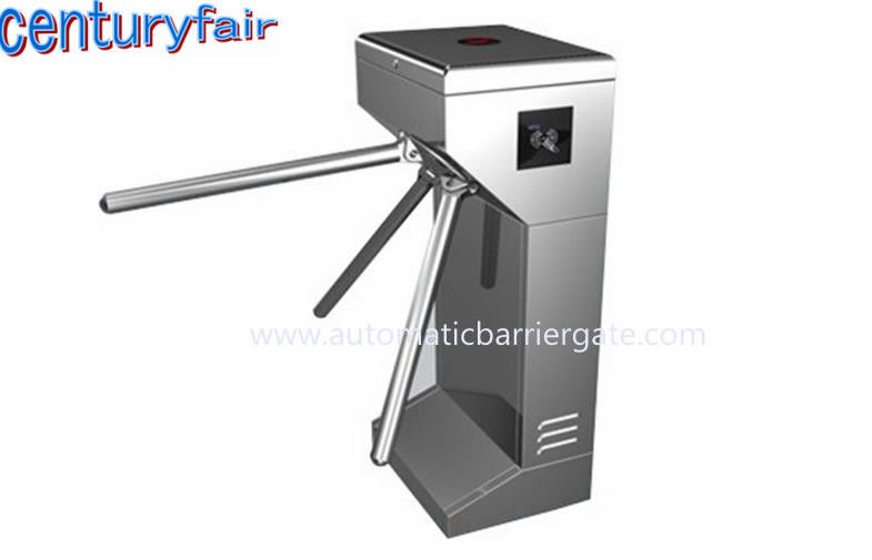 ID Card LED Double Direction Prompt Vertical Tripod Turnstile Gate for Supermarket आपूर्तिकर्ता
